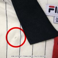 【新品アウトレット】セール品 フィラ(Fila) チームコア コットンストライプ ポロシャツ ホワイト/ピーコートネイビー
