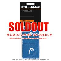 ヘッド(Head) 2.5インチ リストバンド ブルー/ホワイト