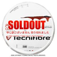 【旧パッケージ アウトレット】テクニファイバー(Tecnifiber) プロレッドコード(Pro Red Code) 1.25mm/1.20mm 200mロール ポリエステルストリングス レッド