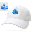 IMG(ニック・ボロテリー テニスアカデミー) オフィシャル ロゴ アセンダーキャップ ホワイト/ブルー