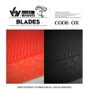 【卓球用品】三維(SANWEI) サンウェイコード OX CODE 卓球ラケット用 粒高ラバーレッド/ブラック 即納