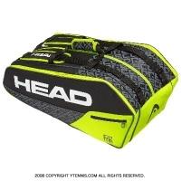 ヘッド(HEAD) 2019年モデル コア スーパーコンビ ラケット9本用 ブラック/ライム 国内未発売 テニスバッグ ラケットバッグ