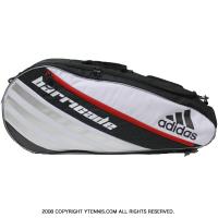 アディダス(adidas) バリケード4ツアー(Brricade) 国内未発売 テニスバッグ3本用 ホワイト/ブラック/スカーレット ラケットバッグ