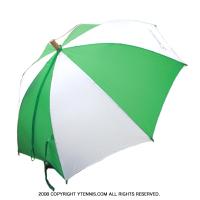 セール品 メルセデスカップ(Mercedes Cup)オフィシャル商品 パラソル グリーン/ホワイト 傘 国内未発売