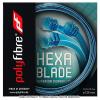【在庫処分特価】ポリファイバー(Polyfibre) ヘキサブレード(Hexablade) ブルー 1.18mm/1.20mm/1.25mm ポリエステルストリングス テニス ガット パッケージ品