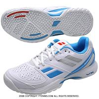 国内正規品バボラ(BABOLAT) テニスシューズ パルション オムニ ホワイト/ブルー BAS16337
