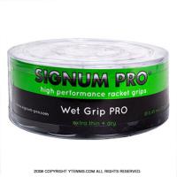 【新品アウトレット】シグナムプロ(SIGNUM PRO) ウェットグリッププロ(WET GRIP PRO) ホワイト 30パック 0.45mm オーバーグリップテープ
