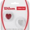 ウイルソン(Wilson) ビブラファン グリッターハート レッド/シルバー ダンプナー 振動止め