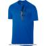 ナイキ(Nike) 2017年秋冬 ロジャー・フェデラーシグネチャーモデル RFロゴ入り コートTシャツ ブルー Blue Jay/Black 国内未発売の画像1