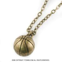 スポーツシリーズ:バスケットボール ネックレス カラー:ブロンズ