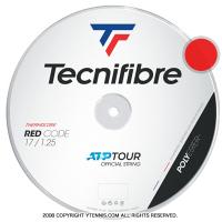 テクニファイバー(Tecnifiber) プロレッドコード(Pro Red Code) 1.30mm/1.25mm/1.20mm 200mロール ポリエステルストリングス レッド