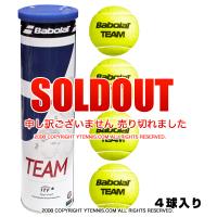 バボラ(BabolaT) チーム TEAM テニスボール 一缶4球いり オールコート