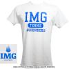 IMGアカデミー(ニック・ボロテリー テニスアカデミー)IMG Tennis Ascenders メンズ Tシャツ ホワイト/ブルー