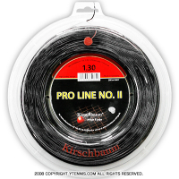 キルシュバウム(Kirschbaum) プロラインNO.II(ProLine2) 1.30mm/1.25mm/1.20mm/1.15mm 200mロール ポリエステルストリングス ブラック