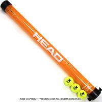 ヘッド(HEAD) ネットチェック機能付 テニスボール回収チューブ(ピックアップチューブ) オレンジ
