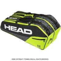 ヘッド(HEAD) 2019年モデル コア コンビ ラケット6本用 ブラック/ライム 国内未発売 テニスバッグ ラケットバッグ