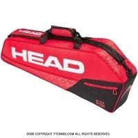 セール品 ヘッド(HEAD) 2019年モデル コア プロ ラケット3本用 レッド/ブラック 国内未発売 テニスバッグ ラケットバッグ
