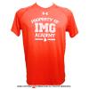 アンダーアーマー(UNDER ARMOUR)×IMG(ニック・ボロテリー テニスアカデミー) Property of IMGメンズ Tシャツ ヒートギア オレンジ