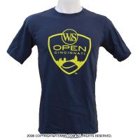 ATPツアー ウェスタンアンドサザンオープン シンシナティ・マスターズ(Cincinnati Masters)限定ロゴTシャツ ネイビー/イエロー