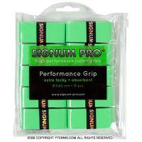 シグナムプロ(SIGNUM PRO) パフォーマンスグリップ(PERFORMANCE GRIP) グリーン 10パック 0.60mm オーバーグリップテープ
