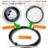 【12mカット品】OEM ポリラフ加工ガット 1.25mm ポリエステルストリングスブラックテニス ガット ノンパッケージの画像3