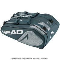 ヘッド(HEAD) 2017年モデル コア スーパーコンビ ラケット9本用 アンスラサイト/グレー 国内未発売 テニスバッグ ラケットバッグ