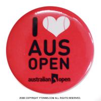 全豪オープンテニス オフィシャル商品 Ilove aus open ボタンバッジ ピンク オーストラリアンオープン