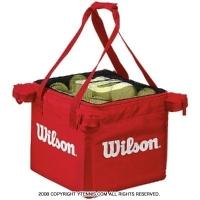 ウイルソン(Wilson) テニスボール 収納バッグ 150球収納可能 レッド