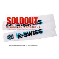 セール品 ケースイス(K-Swiss)テニス アームウォーマー ホワイト/ブルー