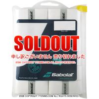 【新品アウトレット】バボラ(Babolat) プロ ターキー(Pro Tacky) オーバーグリップ ホワイト 12個パック