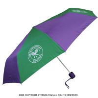 Wimbledon(ウィンブルドン)全英オープンテニス オフィシャル記念グッズ 折りたたみ傘 パラソル パープル/グリーン