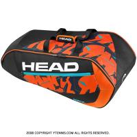 ヘッド(Head) 2017年 アンディ・マレー愛用シリーズ スーパーコンビ 9本用 テニスバッグ ブラック/オレンジ ラケットバッグ