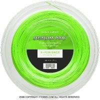 シグナムプロ(SIGNUM PRO) エクスペリエンス(X-PERIENCE) 1.30mm/1.24mm/1.18mm 200mロール ポリエステルストリングス グリーン