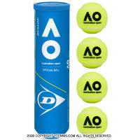 ダンロップ(DUNLOP) オーストラリアンオープン グランドスラム テニスボール 1本4球入 全豪オープン オールコート