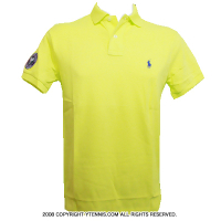 セール品 Wimbledon(ウィンブルドン) オフィシャル商品 ポロ・ラルフローレン ポロシャツ イエロー全英オープンテニスNeon Yellow