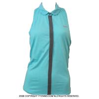 セール品 ナイキ(Nike) スリーブレスポロ レディースシャツ アクアマリン