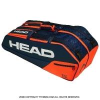 ヘッド(HEAD) 2019年モデル コア コンビ ラケット6本用 ブルー/オレンジ 国内未発売 テニスバッグ ラケットバッグ