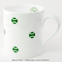 Wimbledon(ウィンブルドン) オフィシャル商品 テニスボール マグカップ グリーン 全英オープンテニス