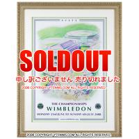 激激レア!! 世界限定10枚 ウィンブルドンテニス 2008 フェデラー・ ナダル直筆サイン入り 高級額付ポスター 証明書付き