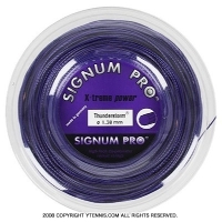シグナムプロ(SIGNUM PRO) サンダーストーム(Thunderstorm) 1.30mm/1.24mm 200mロール ポリエステルストリングス パープル