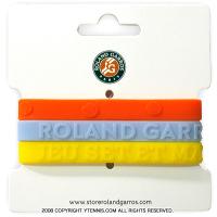 フレンチオープンテニス ローランギャロス シリコンリストバンドセット オフィシャル商品 全仏オープンテニス