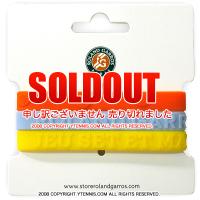 セール品 フレンチオープンテニス ローランギャロス シリコンリストバンドセット オフィシャル商品 全仏オープンテニス