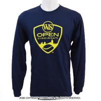 ATPツアー ウェスタンアンドサザンオープン シンシナティ・マスターズ(Cincinnati Masters)限定ロゴ ロングスリーブTシャツ ネイビー/イエロー