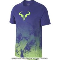 ナイキ(Nike) 2017年夏 ラファエル・ナダルシグネチャーモデル ブルロゴ入り ラファコートTシャツ ディープナイト/ゴーストグリーン 国内未発売
