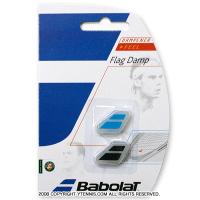 バボラ(Babolat)ロゴ 振動止め フラッグダンプナー ブラック/ブルー