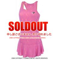 セール品 ロット(Lotto)トゥワイス II テニスドレス ピンク・コーラル 国内未発売モデル リバーシブル