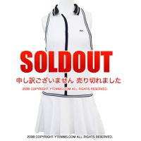 ラコステ(Lacoste) エレーナ・ベスニナ着用モデル襟付きノースリーブテニスドレス ホワイト