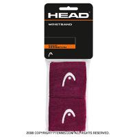 ヘッド(Head) 2.5インチ リストバンド バーガンディー/ホワイト