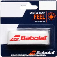 【厚さ1.5mmの薄型グリップ】バボラ(BabolaT) シンテックチーム ホワイト/レッド リプレイスメントグリップテープ