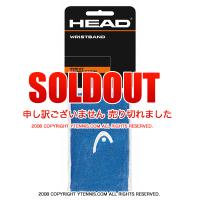 セール品 ヘッド(Head) 5インチ リストバンド ブルー/ホワイト